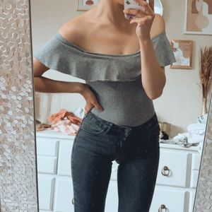 Off the shoulder one piece
